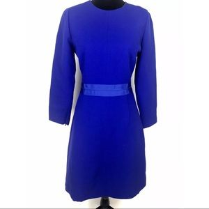J.CREW $228 Blue Double Faced WOOL Crepe Dress 6